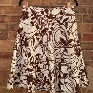 The Limited Floral Linen Skirt